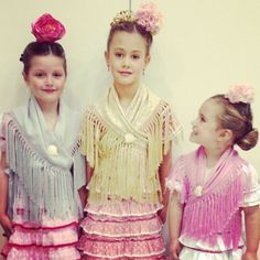 """Cute girls dressed up as """"Flamencas"""". Always wanted to do that, but in a Feria, in Spain, of course. Spanish Dance, Kids Dress Up, Cute Girl Dresses, Kool Kids, Child Smile, Beautiful Children, Cute Girls, Ruffle Blouse, Clothes"""