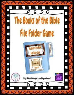 Books of the Bible File Folder Game Freebie