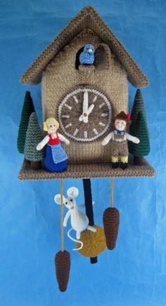 Hickory Dickory Dock knitting pattern by Alan Dart
