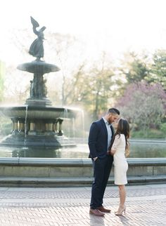 Location: Bethesda Fountain in Central Park   New York City Engagement Session