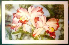 Wonderful Monumental Watercolor of Orchids