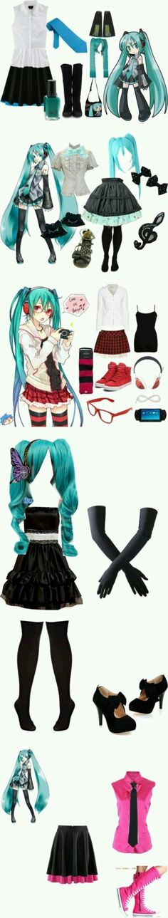 PRETTY AWESOME MIKU HATSUNE OUTFITS!!!