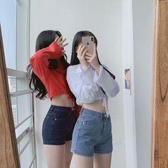 Korean Beauty Girls, Korean Girl Fashion, Ulzzang Fashion, Cute Fashion, Ulzzang Korean Girl, Cute Korean Girl, Asian Girl, Ulzzang Couple, Foto Best Friend