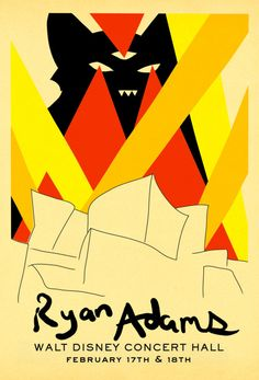 ryan adams music gig posters | walt disney concert hall | Tumblr