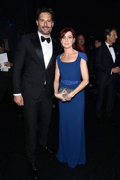 Joe Manganiello and Carrie Preston Emmys Joe Manganiello, True Blood, Preston, Carrie, Carry On, Hot Guys, Style, Swag, Hand Luggage