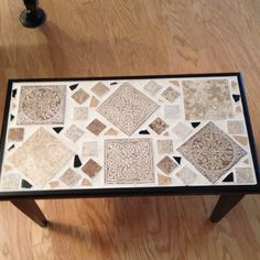 I made this mosaic out of an old piano bench! Old Pianos, Piano Bench, Benches, Mosaics, Decorating Ideas, Rugs, Creative, Wood, Diy