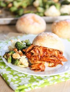 Slow cooke BBQ pulled chicken: Eatgood4life.com