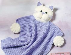 Ravelry: Kitty Blanket Buddy pattern by Cynthia (Cindy) Harris ~ free pattern