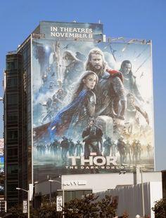 Giant Thor: The Dark World movie billboard
