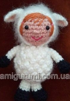 #amigurumi doll in a sheep costume pattern, in russian. I use google translate...