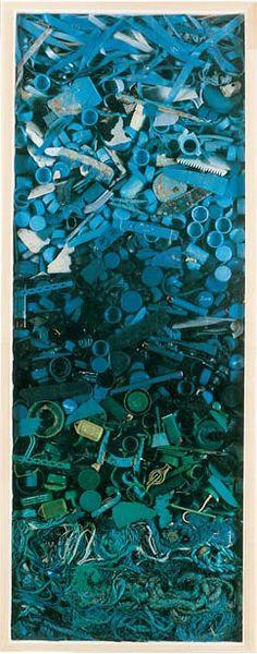 John Dahlsen's Labello: made of plastic he found along the beach.