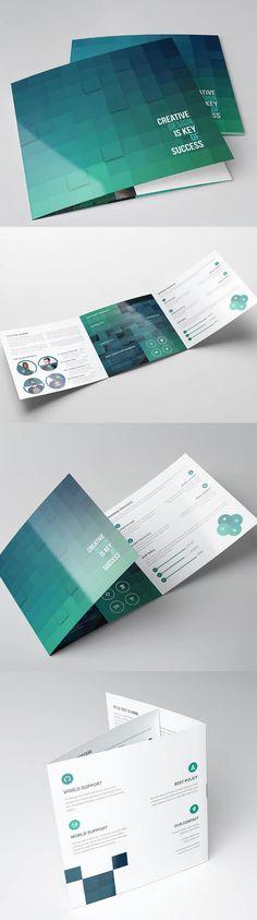 Square Tri-fold Brochure Template