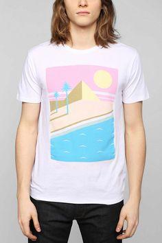 Poolhouse Retro Beach Scene Boxy Tee