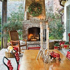 Reclaimed brick for an outdoor fireplace, would be nice!