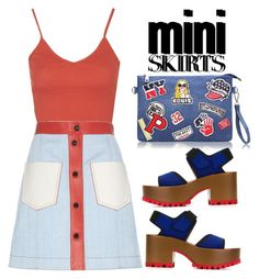 """""""mini skirts #3"""" by theywerebulletsmofo ❤ liked on Polyvore featuring Topshop, Fendi and Marni"""