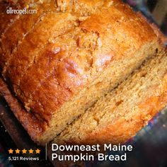 5,075 reviews | ready in 65 minutes | Downeast Maine Pumpkin Bread | Repin for your pumpkin cravings. http://allrecipes.com/video/678/downeast-maine-pumpkin-bread/detail.aspx?lnkid=7171