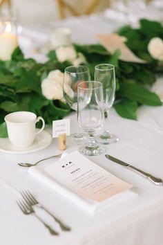 sophisticated place setting, photo by Tara McMullen http://ruffledblog.com/niagara-on-the-lake-wedding #weddingideas #placesetting