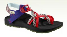Red white and blue chacos