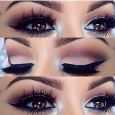 Dramatic Eyes- Make-Up- Party Time- Night Time- Weddings… Gorgeous brown eyes. Dramatic Eyes- Make-Up- Party Time- Night Time- Weddings… Prom Makeup, Cute Makeup, Gorgeous Makeup, Pretty Makeup, Gorgeous Eyes, Perfect Makeup, Perfect Eyes, Pageant Makeup, Makeup Style