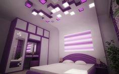 Violet Bedroom by Ivan Zhivov, via Behance