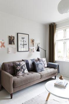 Our Monochromatic and Modern Living Room Reveal! Living Room Modern, Home Living Room, Living Room Designs, Living Room Decor, Home Theather, Boho Deco, Scandinavian Home, House And Home Magazine, Living Room Inspiration