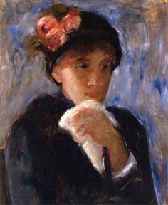 Woman with Handkerchief,  Mary Cassatt - circa 1887