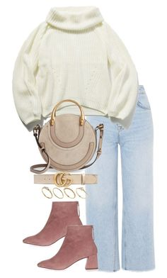 """""""Untitled #4773"""" by theeuropeancloset on Polyvore featuring Topshop, Chloé, Gucci and ASOS"""