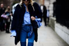 London Fashion Week Fall 2016 Street Style