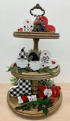 My Funny Valentine, Love Valentines, Valentines Day Decorations, Valentine Day Crafts, Valentine Ideas, Patriotic Decorations, House Decorations, Easter Crafts, Tiered Stand