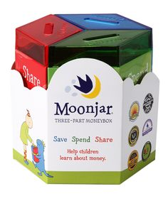 Moonjar Classic Moneybox Set | Little savers are never too young to learn about fiscal responsibility. Using the helpful instructional guide, they learn to save, spend and share like the pros with this innovative bank