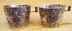 Lalaounis silver 925 copy of Ancient Greek pair of decorative jugs by Glorypast on Etsy Ancient Greek, Beer, Mugs, Glasses, Unique Jewelry, Tableware, Handmade Gifts, Silver, Vintage