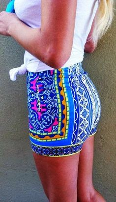 Navy Base Tribal Shorts