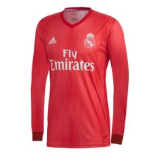c3b602886 18-19 Real Madrid Third Away Red Long Sleeve Jersey Shirt.You can customise