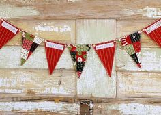 use holiday wrapping paper Christmas Bunting, Christmas Sewing, Christmas Stockings, Christmas Holidays, Merry Christmas, Christmas Christmas, Happy Holidays, Christmas Ideas, Bunting Garland