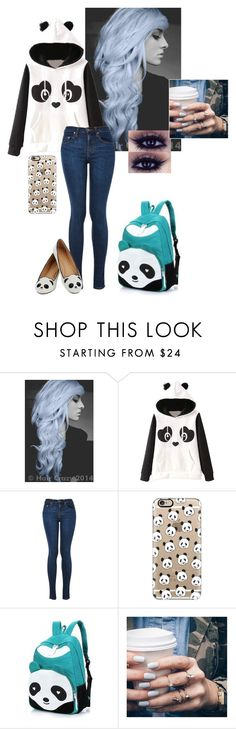"""PANDA >."" by luhpayne-948 on Polyvore featuring Garcia, Casetify, Rainbow Whimz and Floss Gloss"