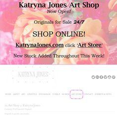 Katryna Jones Art Shop Now Open Online !! http://KatrynaJones.com click 'Art Store' at top.