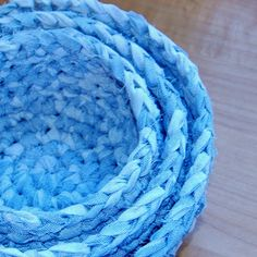 Crocheted Fabric Nesting Baskets