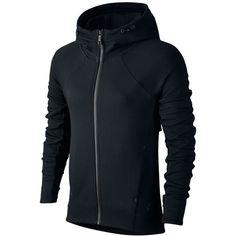 Nike Tech Fleece Zip Hoodie ($76) ❤ liked on Polyvore featuring tops, hoodies, lightweight zip hoodie, lightweight hooded sweatshirt, nike hoodies, blue hooded sweatshirt and zip hoodie
