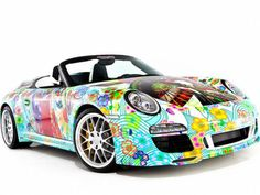 Japanese-Inspired Artwork by Miguel Paredes on a Porsche Speedster