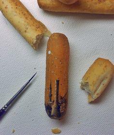 pintura no pão