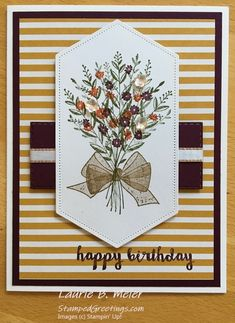 SSS Happy Holiday Wishes l Happy Thursday, crafty friends! Today I have another couple of Christmas cards with some SSS Cheer and Joy products! For my first card, I used the, very popular at the moment, Gnome die along with … Unique Birthday Cards, Beautiful Birthday Cards, Handmade Birthday Cards, Vintage Birthday, Birthday Images, Birthday Quotes, Flower Stamp, Flower Cards, Happy Holidays Wishes