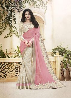 Buy designer party wear saree from our latest collection. Order this sonorous embroidered and patch border work classic designer saree.