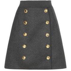 Dolce & Gabbana Wool Skirt ($1,155) ❤ liked on Polyvore featuring skirts, bottoms, saias, dolce and gabbana, юбки, grey, grey wool skirt, gray skirt, woolen skirt and dolce gabbana skirt