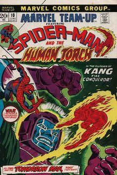 Marvel Team-Up #10  Featuring Spider-Man and The Human Torch  Marvel Comics Group  June 1973  $.20