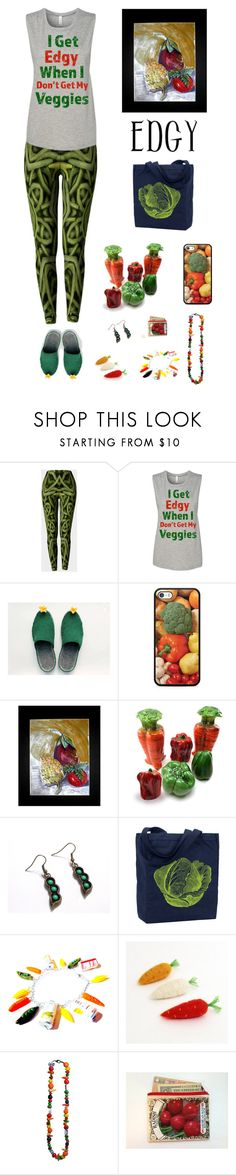 """""""Edgy Veggie"""" by kateduvall ❤ liked on Polyvore featuring Samsung and vintage"""