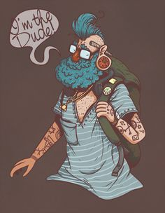 Hipster by Chris Lewis Lee for Sketch Dailies