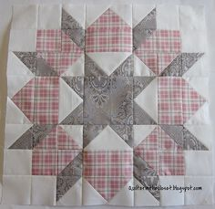 Swoon Block; I like this one and it makes a large block.  I saw a quilt with these blocks offset and I really liked it...