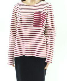 Chaps Women/'s Striped Side Lace-Up Top S /& XXL-NWT XL L