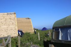 Wheems Organic Farm Bothies, Orkney. The bothies look out to sea through fully glazed double doors and provide an indoor / outdoor living option with their outdoor deck http://www.organicholidays.com/at/3150.htm