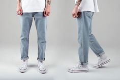 How Do Levi's 501 Jeans Fit? Our Handy Levis Fit guide shows you how. All Jeans, Jeans Fit, Jeans And Boots, Levis 511 Jeans, Outfits With Converse, Minimal Fashion, Men Casual, Menswear, Shane Twd